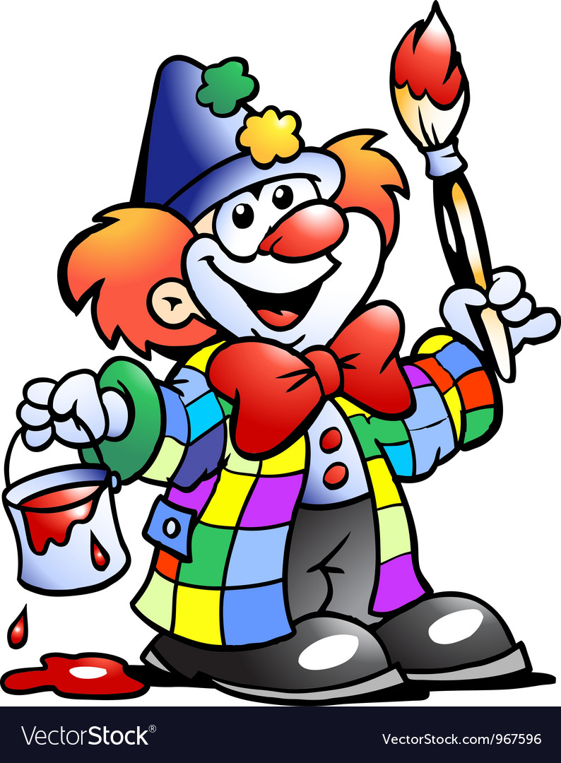 Clown painting vector