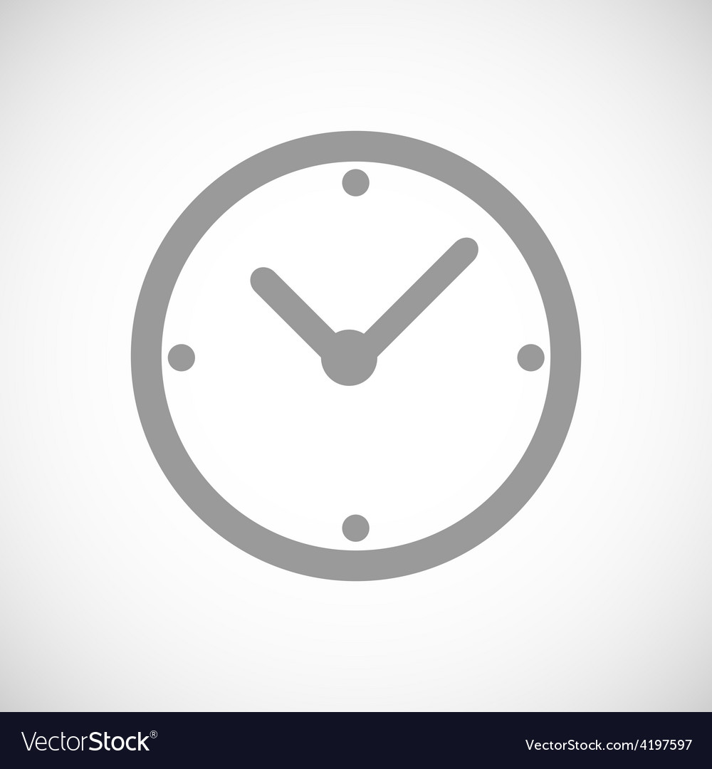 Clock black icon vector