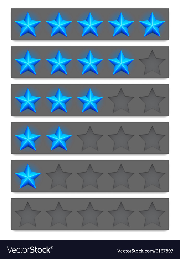 Rating buttons vector