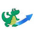 crocodile arrow and envelop vector image