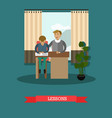 Lessons concept in flat style vector image
