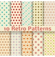 Retro dot seamless patterns tiling vector image