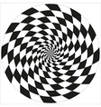 Circle of abstract chess isolated object vector image