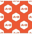 Orange A to B pattern vector image