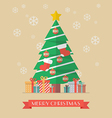 Christmas tree and presents vector image