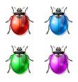 Set of multicolored fictional beetles vector image