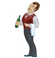 Fancy Waiter Cartoon vector image