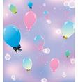 sky pink balls 1 vector image
