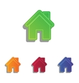 Home silhouette  Colorfull applique vector image