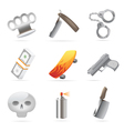 Icons for crime vector image