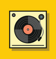 audio vinyl player in flat style with shadow vector image