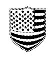 badge with flag united states of america black vector image
