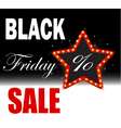 Black Friday Poster Sale Black Friday discounts vector image
