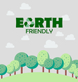 Earth friendly concept vector image