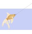 goldfish2hook2 vector image