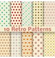 Retro dot seamless patterns tiling vector image