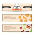template design horizontal flyer for baked goods vector image