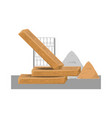 wooden beam and sand vector image