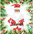 Santa Claus Christmas background vector image vector image