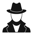 Spy icon simple style vector image