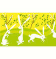 easter happy rabbits vector image vector image