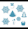 Decorative Christmas set vector image vector image