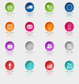 Colored set round web buttons template vector image