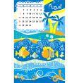 calendar august vector image vector image