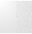 Abstract background with alphabet vector image vector image