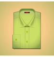 green classic mens shirt vector image vector image