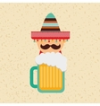 mexican culture icon design vector image