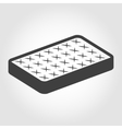 black mattress icon vector image