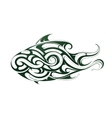 Decorative fish tattoo vector image