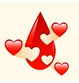Donation of blood and organs medicine vector image