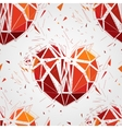 Geometric 3d Broken heart vector image