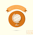 globe symbol icon geography the study of the vector image