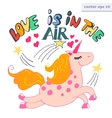 loe is in the air vector image