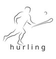 Logo hurling game irish hurling vector image