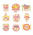 pizza house pizzeria premium menu logo templates vector image
