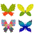 Set of Colorful Batterflies vector image