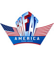 usa flag make america great again proud vector image vector image