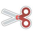 cartoon scissors school utensil vector image