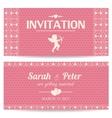 Valentine day romantic invitation card vector image