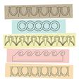 Greek motif ornaments vector image