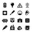 Silhouette Electricity power and energy icons vector image vector image