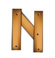 wooden type n vector image vector image