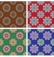 Floral seamless patterns collection vector image