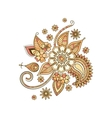 Beige colorful decorative floral isolated element vector image
