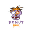 Cartoon Donut Zombie face design template vector image