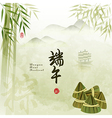 Chinese Dragon Boat Festival with Rice Dumpling Ba vector image